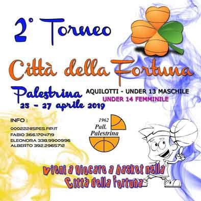 Locandina del Secondo Torneo Città della Fortuna a Palestrina