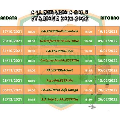 calendario squadre c gold